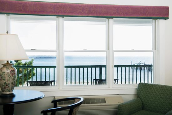 Crown and Anchor Inn: View of picturesque Provincetown harbor from one of our Deluxe waterview suites.