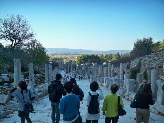 Vieille ville d'Éphèse : Vía de los Curetes y Biblioteca de Celso