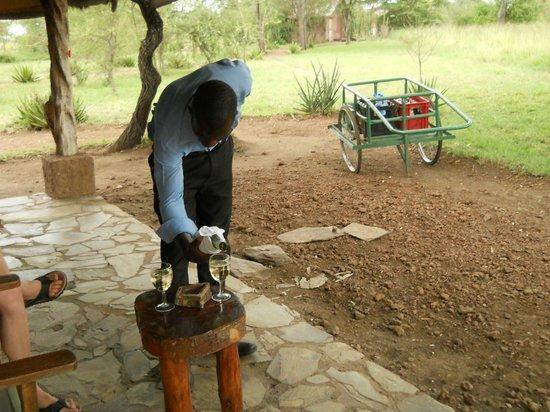 Serengeti Tented Camp - Ikoma Bush Camp: Room service!