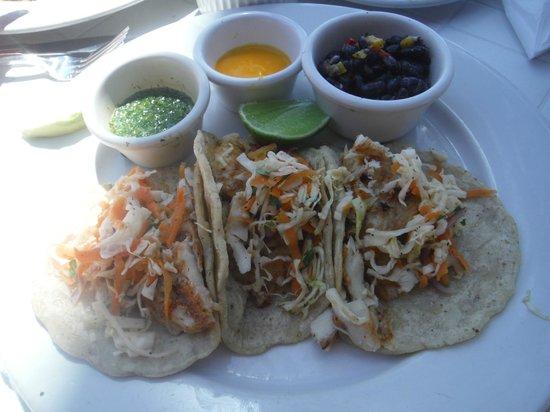 Lol-Ha on Akumal Main Bay: Lol-Ha Fish Tacos - delicious