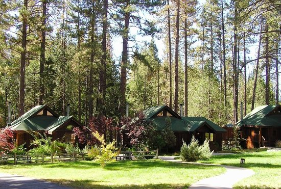 Quiet Creek Inn: Meadow and guest cabins -Main