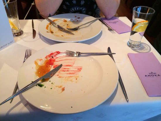 Anokaa Restaurant : We polished off all of our plates on the buffet - sooooo delicious!