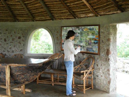 Kiboko Lodge: Tearoom interior