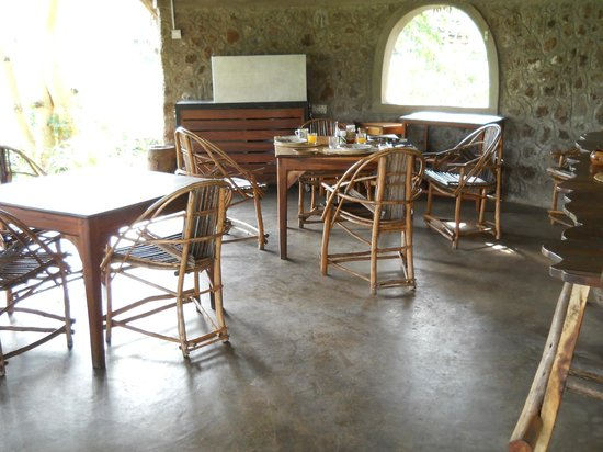 Kiboko Lodge: Interior of the tearoom