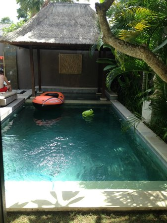 Chandra Luxury Villas Bali : Pool with floaty toys!