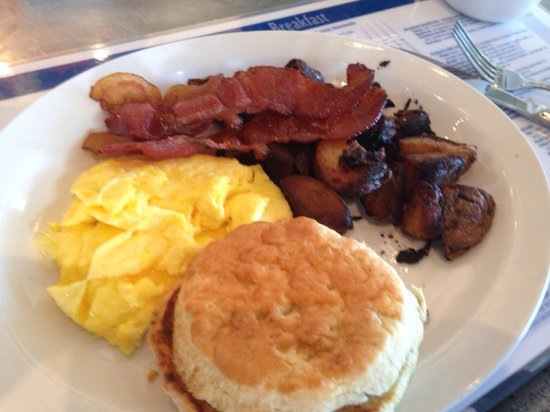 Eggs Bacon Homemade Biscuit Picture Of Blue Plate