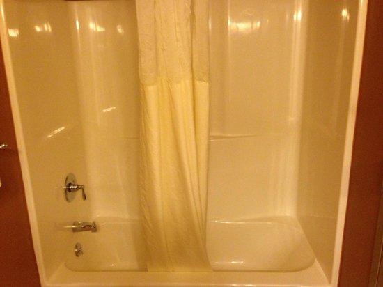 Mt. Olympus Resort: Shower/bath in second bathroom in 2-queen 2-room suite