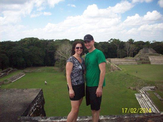 Maya-Ruinen von Altun Ha: View From Top