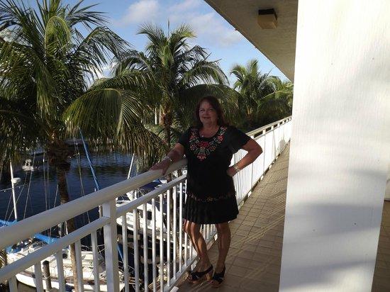 Marina Del Mar Resort And Marina : Balcony outside our room
