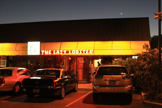 Outside front of Lazy Lobster