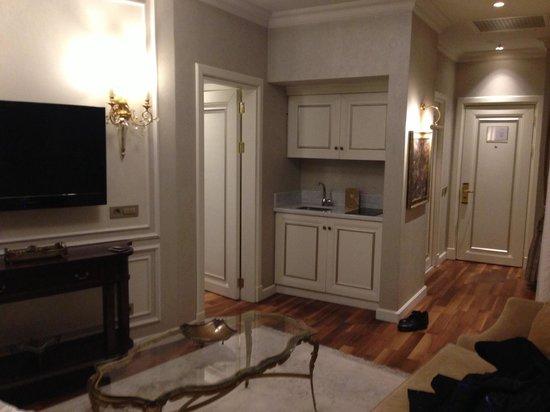 Rixos Pera Istanbul: Плита в комнате, не понятно для чего