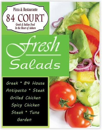 84 court St Pizza and Restaurante: Dinner or side salads