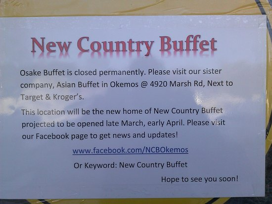 Osake Sushi & Hibachi Buffet: Sign on front door
