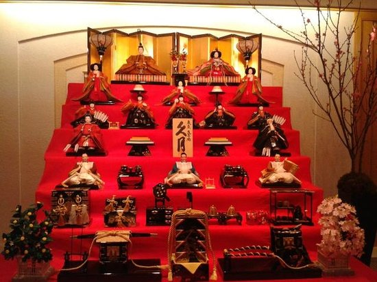 Imperial Hotel Tokyo: Special Hima-sama display in lobby
