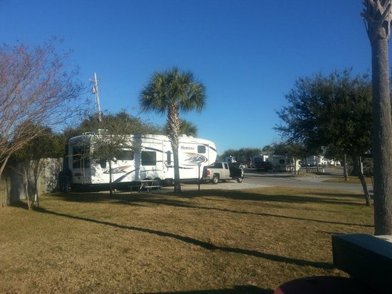 Emerald Beach RV Park: our lot looked right out on the water