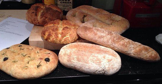 The Artisan Bakehouse: Breads made from the Breadmaking workshop.
