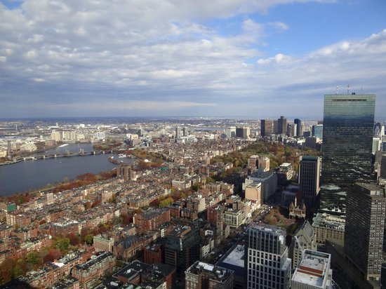 Skywalk Observatory: View of downtown and the Charles River