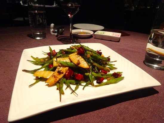 Duck De Chine : spicy green beans with bamboo shoots