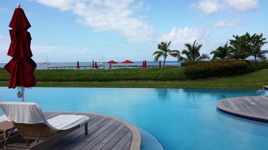 Four Seasons Resort Nevis, West Indies : View from Reflection Pool