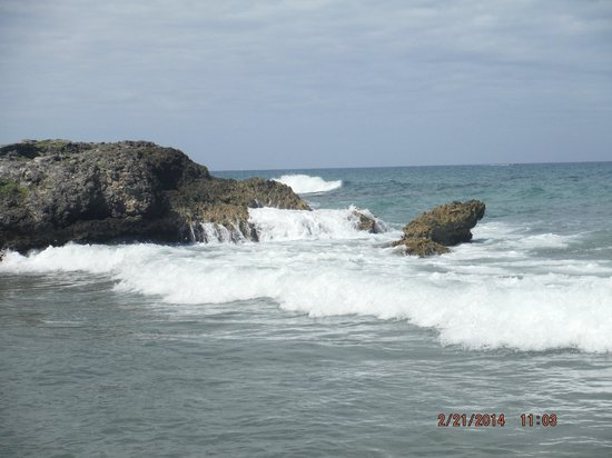 Grand Palladium Jamaica Resort & Spa: One of the rocky areas by the beach.