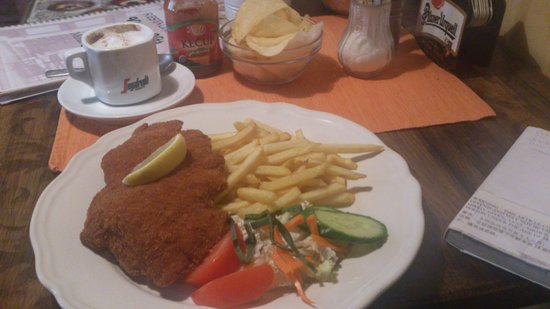 Mystic Cafe : Deep fried chicken steak (they said this is Czech cuisine).