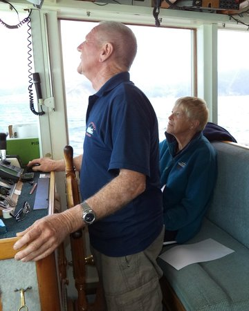 Marlborough Sounds: Captain Brian and First Mate Gael.  We were in good hands.