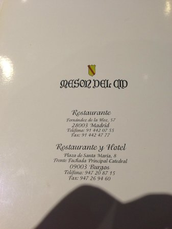 Meson del Cid: restaurant