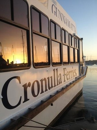 Cronulla & National Park Ferry Cruises: cronulla ferries vessel the Gunnamatta preparing to depart for a sunset dinner cruise