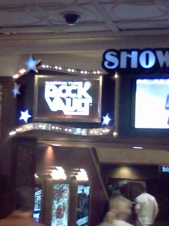 Raiding The Rock Vault: The sign at the entrance of the showroom