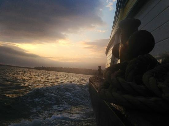 Cronulla & National Park Ferry Cruises: sunrise from the bundeena ferry