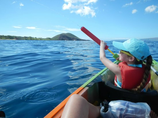 Clear Kayaks Maui: Water squirters for the kids!