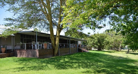 Cresta Lodge Harare: Sango conference centre deck overlooking gardens