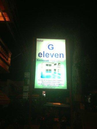 G Eleven Hotel : Sign