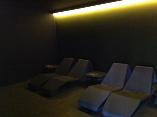 Radisson Blu Palace Hotel, Spa : salle de relaxation, à côté du sauna, 4ème étage.