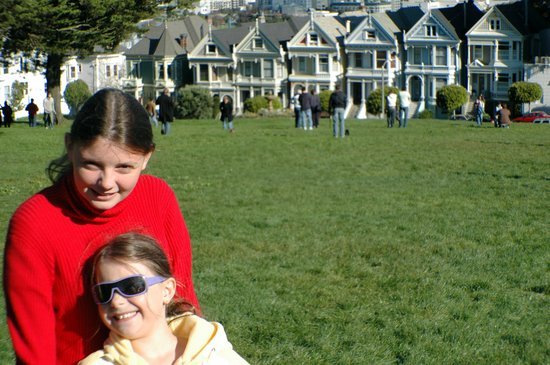 Me and my sister at Alamo Square.