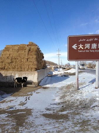 Barkol County, China: Look for this sign