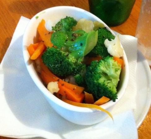 Ardeche: Steamed vegetables