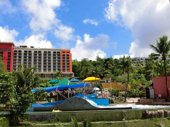 Guam Plaza Hotel: テラスから見える景色