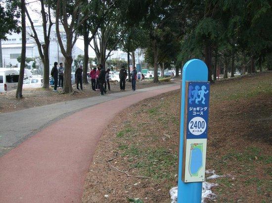 Kuki Shobu Park: ジョギングロードも整備されています