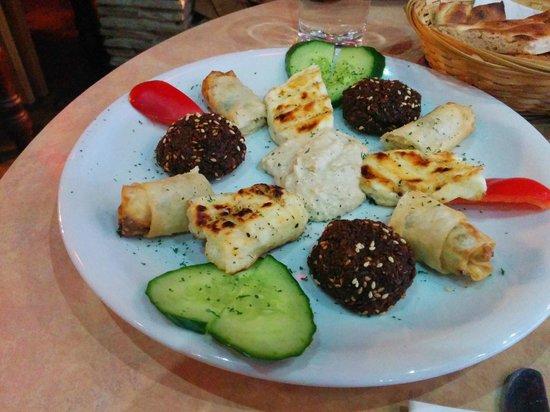 Marmaris BBQ House: The Warm Sharing Platter (Falafal, Halloumi, Cheese Pie)