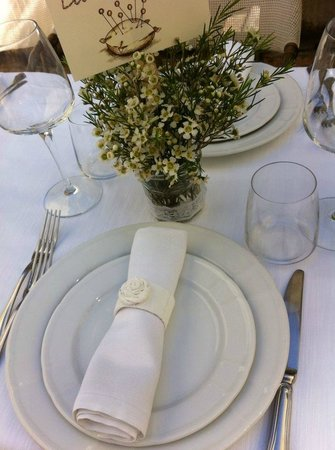 Ristorante Lu Focaro: il tavolo....