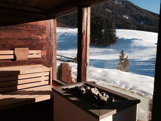 Hotel Chalet Tianes: Sauna con vista