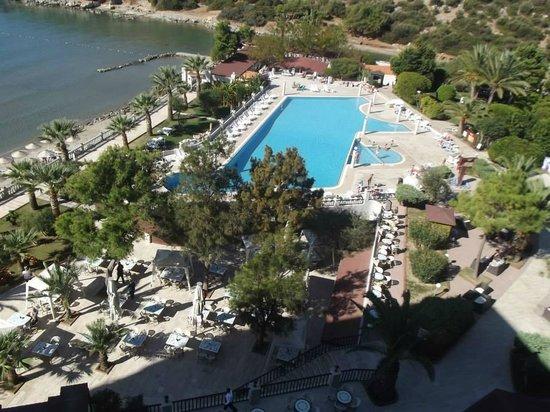 Tusan Beach Resort: Odanın manzarası, havuz