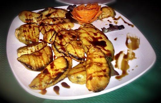 El Tinao de Julian: Fried aubergine