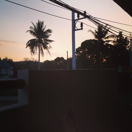 Babylon Pool Villas: Sunset on our balcony.