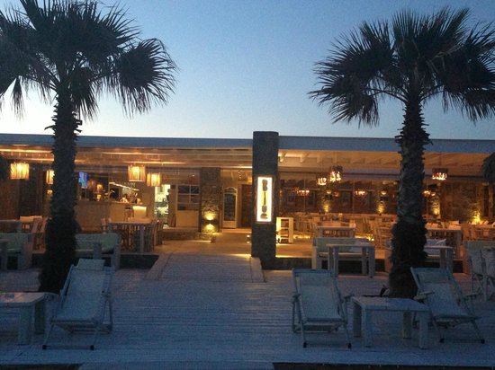 Golden Beach, Greece: Blue restaurant bar
