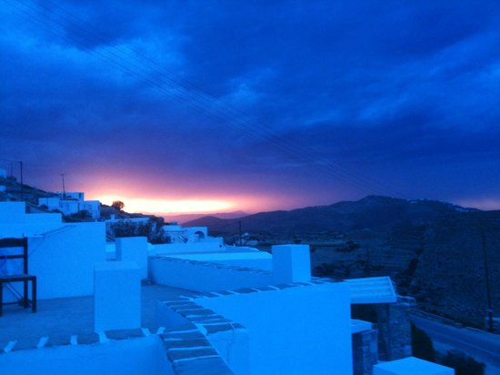 Kifines Suites: Sunset in October from the balcony