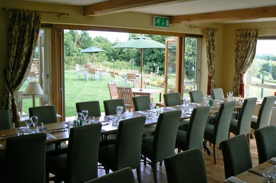 The Black Horse: Dinning Room with Open French Doors Leading to The Garden