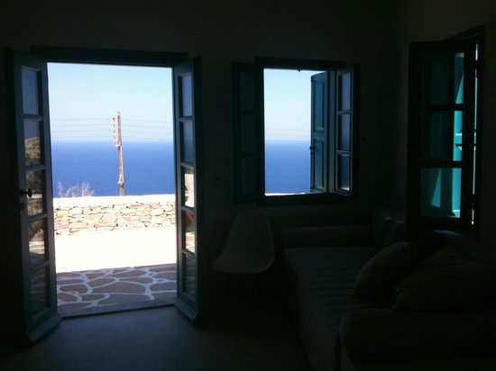 Kifines Suites: The view of the sea from inside the room