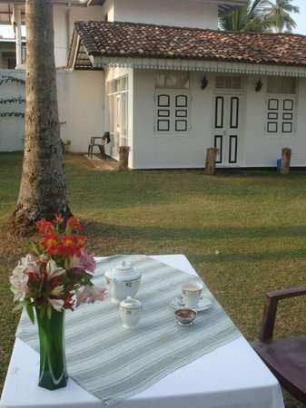 Chitra Ayurveda: View to my room No 1 from garden